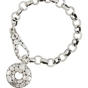 John Hardy Kali Silver Pebble-Motif Link Bracelet